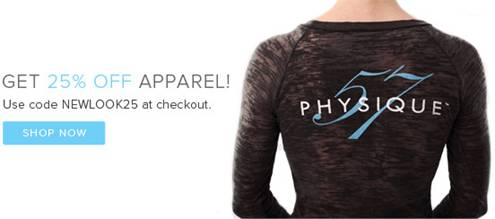 Physique 57 fitness clothing sale